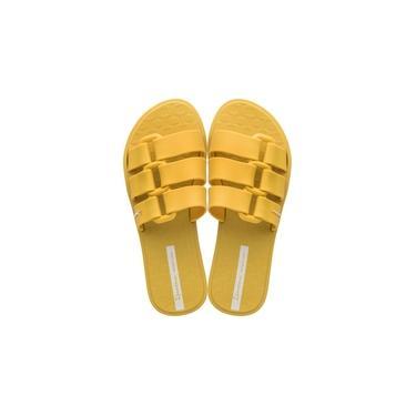 Chinelo Slide Feminino Ipanema Bold Amarelo