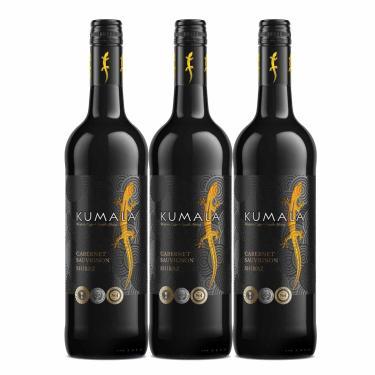 Kit 3X Vinho Tinto Sul Africano Kumala Cabernet/Shiraz 2019
