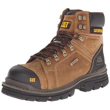 Bota Impermeável Masculina, Caterpillar, Toe Work Boot, Bege Escuro, 11.5 M