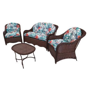 Jogo Sofá C Poltronas Jardim Varanda Área Externa Cadeira (Argila)
