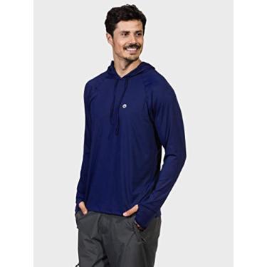 Camisa UV Masculina com Capuz e Encaixe de Dedo New Dry