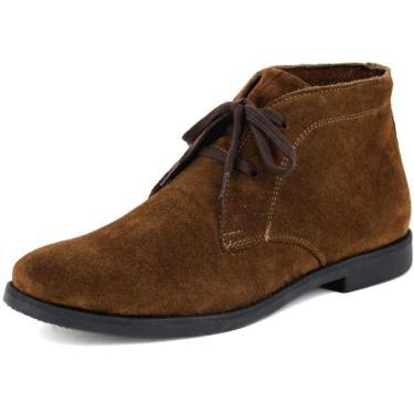 Bota Chelsea Masculina Linha Desert Mr Shoes Camurça Marrom  masculino