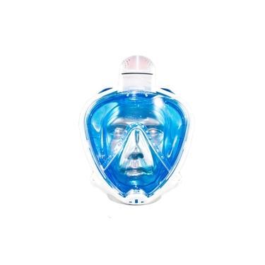 Máscara Mergulho Mormaii Full Face Snorkeling Odyssey / Azul-Transparente / G