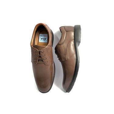 Sapato Ferracini Social Dallas Allure Soft Redondo Marrom Masculino