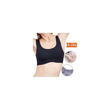 Sutiã esportivo feminino sem costura acolchoado removível de fitness Yoga sutiã casual de algodão sutiã de algodão cor sólida push up top recortado sutiã elástico acolchoado