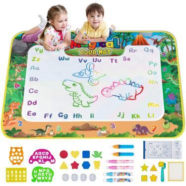 Imagem de Obuby Water Magic Mat Kids Doodle 58 x 42 Polegadas Extra Large Dinosaur Desenho De Corante Tapetes Educativos Brinquedos Educacionais Presentes para Meninos Crianças 3 Anos Acima