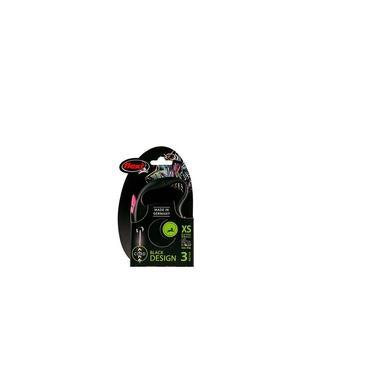 Guia Flexi Black Design Corda PP 3m - Rosa p/ cães