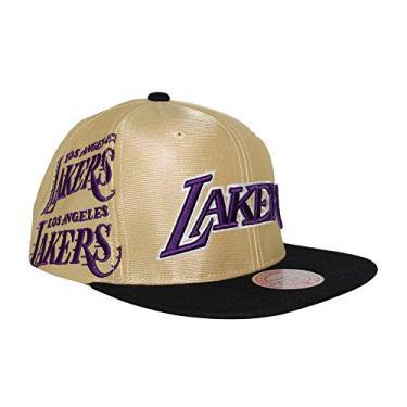 Mitchell & Ness Boné ajustável Los Angeles Lakers Omni da marca Los Angeles, dourado