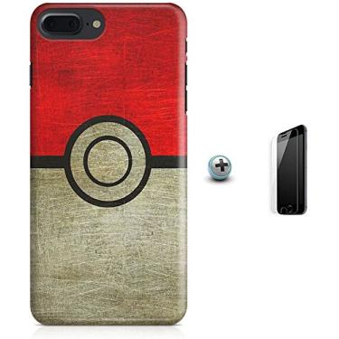 Kit Capa Case TPU iPhone 7 Plus - Pokébola Pokéball + Pel Vidro (BD30)