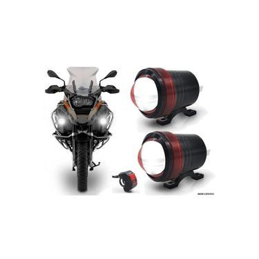 Kit Farol de Milha Neblina LED Moto Universal