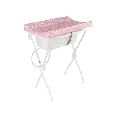 Banheira para Bebê Com Trocador New Floripa - Tutti Baby - Rosa