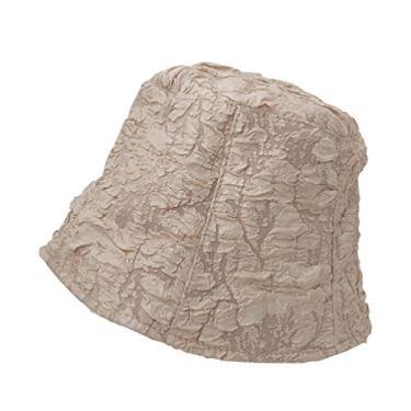 KESYOO Chapéu de Verão Plissado com Proteção Solar para Mulheres e Meninas (Laranja)