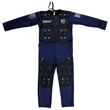 Imagem de Fantasia Policial Infantil Masculina Longa Swat (P 2-4)