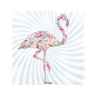 Guardanapo de Papel 33x33cm Flamingo Star Kit Com 2 Pacotes de 20 Unidades Home