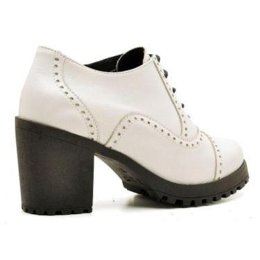 Imagem de Bota Ankle Boot Em Couro Leigam Branco