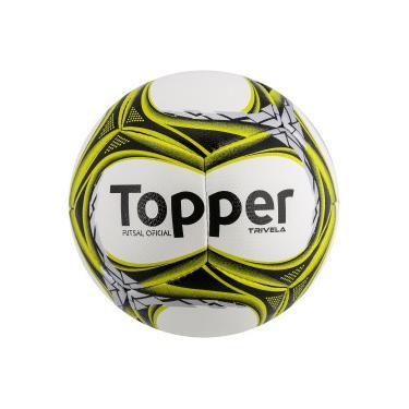 Bola de Futsal Topper Trivela V12 - BRANCO PRATA Topper bccf4b9a58a9e