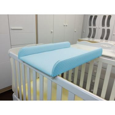 Trocador de Fraldas Almofadado para Berço Corino Azul Bebê - Phoenix Baby