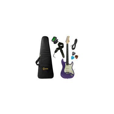 Imagem de Kit Guitarra Tagima tg 500 Metallic Purple Roxa Stratocaster com Capa Correia Cabo Afinador e Palhetas