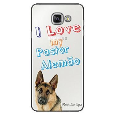 Capa Personalizada para Samsung Galaxy A5 2016 Eu Amo Meu Pastor Alemão - TP80