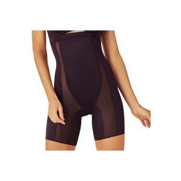 Bermuda feminina modeladora com cintura alta e compressão Liebe 402105
