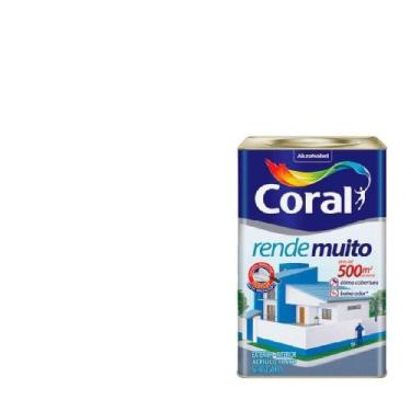 Tinta Acrílica Rende Muito Branco Fosco 18 litros - Coral