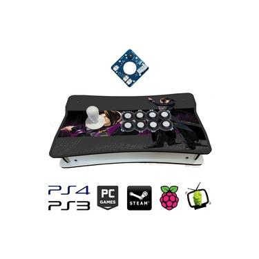 Controle Arcade Placa Zero Delay com sensor óptico PC / PS3 / PS4 / Pi3 / Fightcade - Duolong