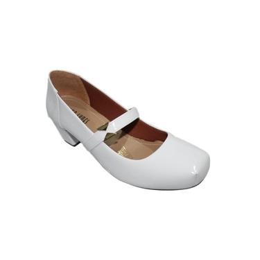 Sapato Feminino Confortável Salto Baixo Médio Grosso 1612