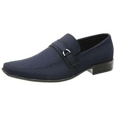 Sapato Social Masculino Italiano San Lorenzo Cor:Azul;Tamanho:44