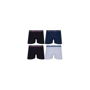 Imagem de Kit Com 4 Cuecas Boxer Box Lupo Em Algodao Confortavel Plus Size Tamanhos Extra Grande Até O 64
