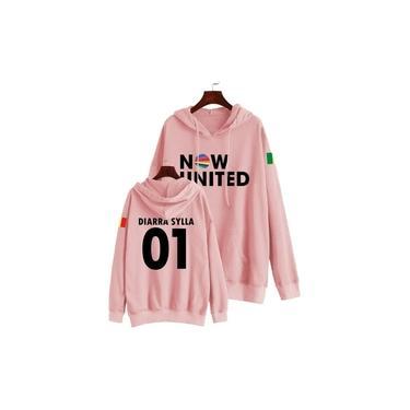 Blusa Moletom Now United Infantil Diarra 01 Rosa