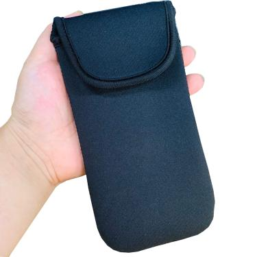 Preto elástico macio flexível neoprene protetor bolsa manga saco para iphone 11 pro max xs xr x