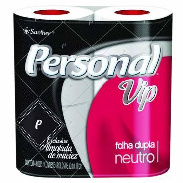 Papel Higiênico Folha Dupla Personal Vip 30m 4 Rolos 90019