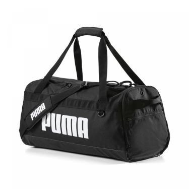 Bolsa Mala Puma Challenger Duffel Tamanho M 076621-01, Cor: Preto/Branco, Tamanho: ÚNICO