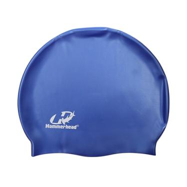 Touca De Natação Hammerhead Silicone Lisa Azul Royal ad4162f9b77
