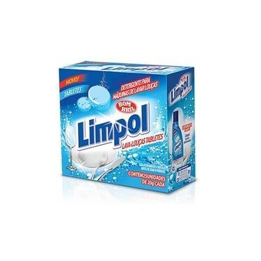 Detergente em Tabletes para Maquina de Lavar Louca 500g 1 UN Limpol