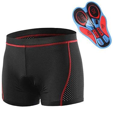 Nishore Homens Ciclismo Roupa interior Shorts Respirável Gel Acolchoado MTB Ciclismo Calções