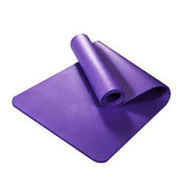Tapete de ioga antiderrapante grosso NBR academia casa fitness exercícios yoga pilates tapete - roxo globalDeal
