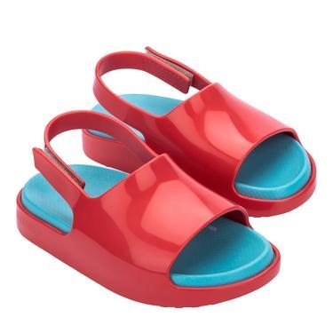 Imagem de Sandália Mini Melissa Cloud Sandal Baby - 17-18 - Vermelho/Azul Vermelho  feminino