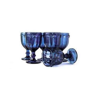 Jogo de Taças Libélula Azul Marinho 240ml - Class Home