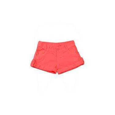 Shorts Infantil De Tela Tinturada - Laranja