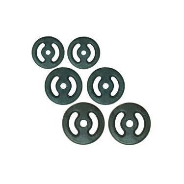 Kit Anilhas Para Musculação Pintadas 24 Kg 0680 Polimet