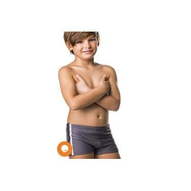 Sunga infantil boxer cinza juvenil