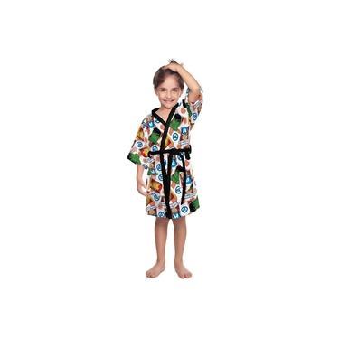 Roupão Infantil Felpudo Vingadores Tam M (6 a 8 Anos) Lepper