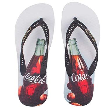 Sandália Coca-Cola, Toast, Branco/Preto, Masculino, 44
