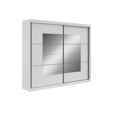 Guarda Roupa Lopas Toronto New 2 Portas Com Espelho Sem Pés Branco