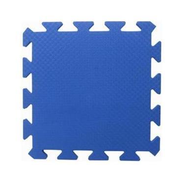 Tapete Tatame EVA Yoga Lutas Ginastica Azul Royal 50x50x2cm 20mm