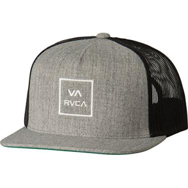 Boné RVCA Trucker Va All The Way III Cinza Claro