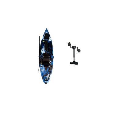 Caiaque Marlim Com Pedal Caiaker Azul
