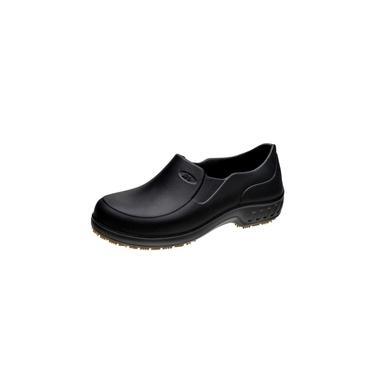 Sapato Flex Clean Croc Cozinha Chef Antiderrapante Preto 35