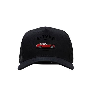 Imagem de Bone preto telinha regulavel Jaguar E Type Vermelho Carro